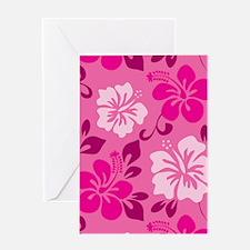 Shades of pink Hawaiian Hibiscus Greeting Cards