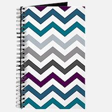 Purple, Blue & Grey Chevron Pattern Journal