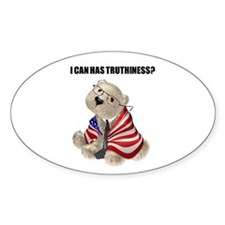 Truthiness Bear Oval Decal