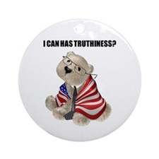 Truthiness Bear Ornament (Round)