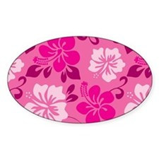 Shades of pink Hawaiian Hibiscus Decal