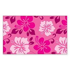 Shades of pink Hawaiian Hibiscus Decal