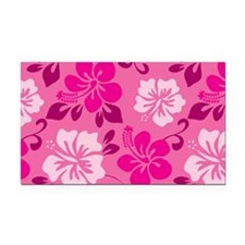Shades of pink Hawaiian Hibiscus Rectangle Car Mag
