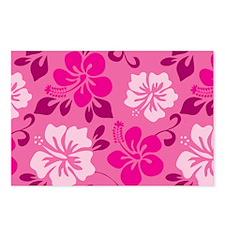 Shades of pink Hawaiian Hibiscus Postcards (Packag