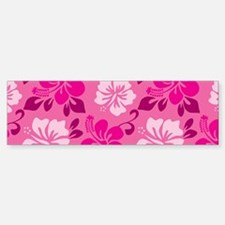 Shades of pink Hawaiian Hibiscus Bumper Bumper Bumper Sticker