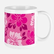 Shades of pink Hawaiian Hibiscus Mugs