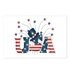 USA Fireworks Postcards (Package of 8)