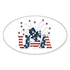 USA Fireworks Oval Decal