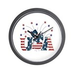 USA Fireworks Wall Clock