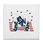 USA Fireworks Tile Coaster