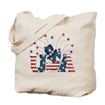 USA Fireworks Tote Bag