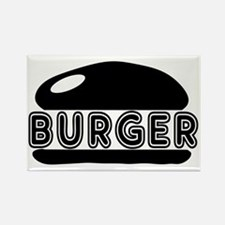 burger Rectangle Magnet