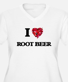 I Love Root Beer Plus Size T-Shirt
