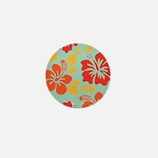 Teal-orange-red-yellow Hawaiian Hibiscus Mini Butt