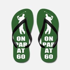 Golfer's 60th Birthday Flip Flops