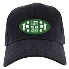 Funny Golf 40th Birthday Baseball Hat