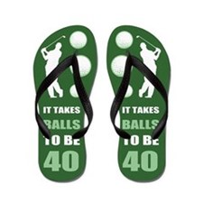 Funny Golf 40th Birthday Flip Flops