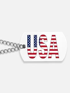 USA flag Dog Tags