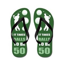 Funny Golf 50th Birthday Flip Flops