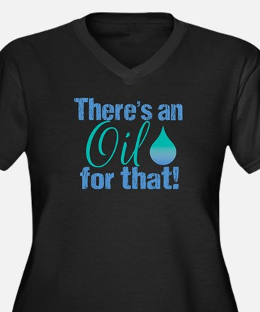 Oil for that Women's Plus Size V-Neck Dark T-Shirt