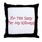Too Funny Kidneys Throw Pillow