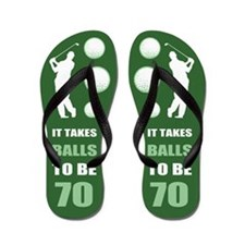 Funny Golf 70th Birthday Flip Flops