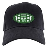 75th birthday mens Black Hat