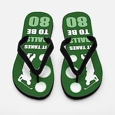Funny Golf 80th Birthday Flip Flops