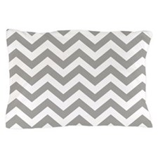 Grey Chevron Pattern Pillow Case