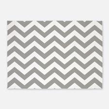 Grey Chevron Pattern 5'x7'Area Rug