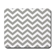 Grey Chevron Pattern Mousepad