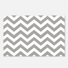Grey Chevron Pattern Postcards (Package of 8)