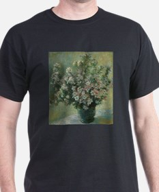 Vase of Flowers by Claude Monet T-Shirt
