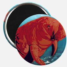 Painted Manatee Artwork Magnet