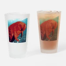 Painted Manatee Artwork Drinking Glass