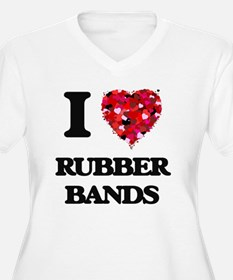 I Love Rubber Bands Plus Size T-Shirt
