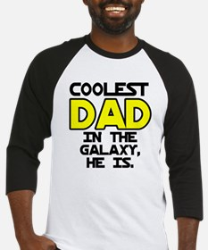 Coolest Dad Galaxy He Is Baseball Jersey