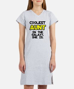 Coolest Aunt Galaxy She Is Women's Nightshirt