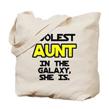Coolest Aunt Galaxy She Is Tote Bag