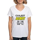 Best aunt Womens V-Neck T-shirts