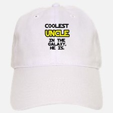 Coolest Uncle In Galaxy He Is Baseball Baseball Cap