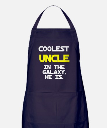 Coolest Uncle In Galaxy He Is Apron (dark)
