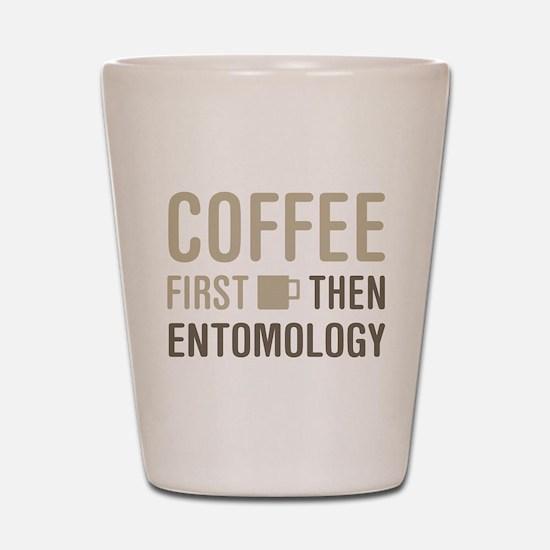 Coffee Then Entomology Shot Glass