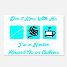 Crochet Hooker Hopped Up  Postcards (Package of 8)