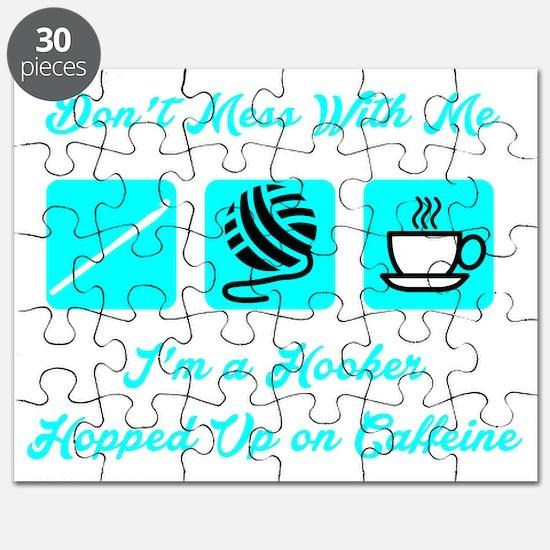 Crochet Hooker Hopped Up On Caffeine Puzzle