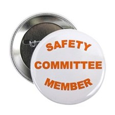 "White Safety Committee 2.25"" Button (10 Pack)"