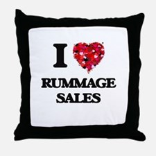 I Love Rummage Sales Throw Pillow