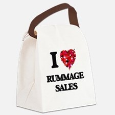 I Love Rummage Sales Canvas Lunch Bag