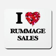 I Love Rummage Sales Mousepad