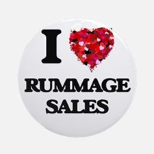 I Love Rummage Sales Ornament (Round)